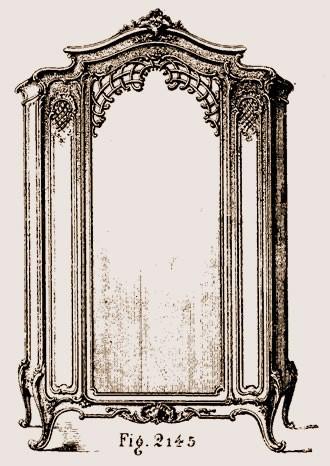 Armoire-à-glace-Louis-XV Les différents styles de meubles par époques