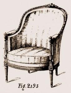 Bergère-à-gondole-Louis-XVI-228x300 Les différents styles de meubles par époques