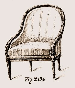 Bergère-Louis-XVI Les différents styles de meubles par époques