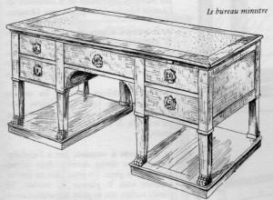 Bureau-de-Ministre-Empire-300x220 Les différents styles de meubles par époques