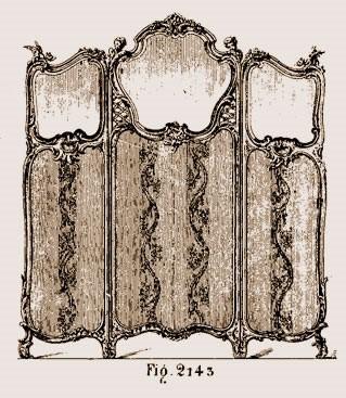 Paravent-Louis-XV Les différents styles de meubles par époques
