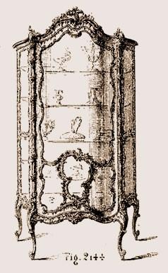 Vitrine-Louis-XV Les différents styles de meubles par époques