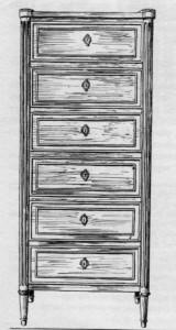 chiffonnier-Louis-XVI-160x300 Les différents styles de meubles par époques