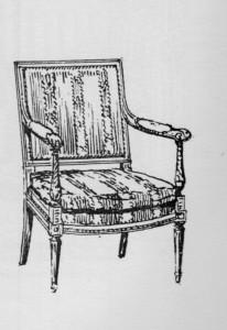 fauteuil-à-dossier-carré-Louis-XVI-206x300 Les différents styles de meubles par époques