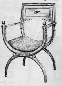 siège-curule-Directoire-216x300 Les différents styles de meubles par époques