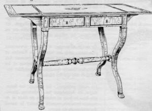 table-à-l'anglaise-Restauration-300x219 Les différents styles de meubles par époques