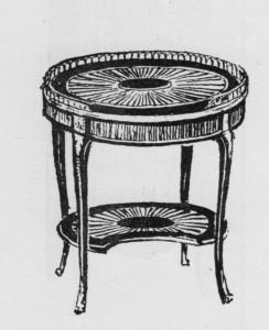 table-volante-forme-ovale-Transition-244x300 Les différents styles de meubles par époques