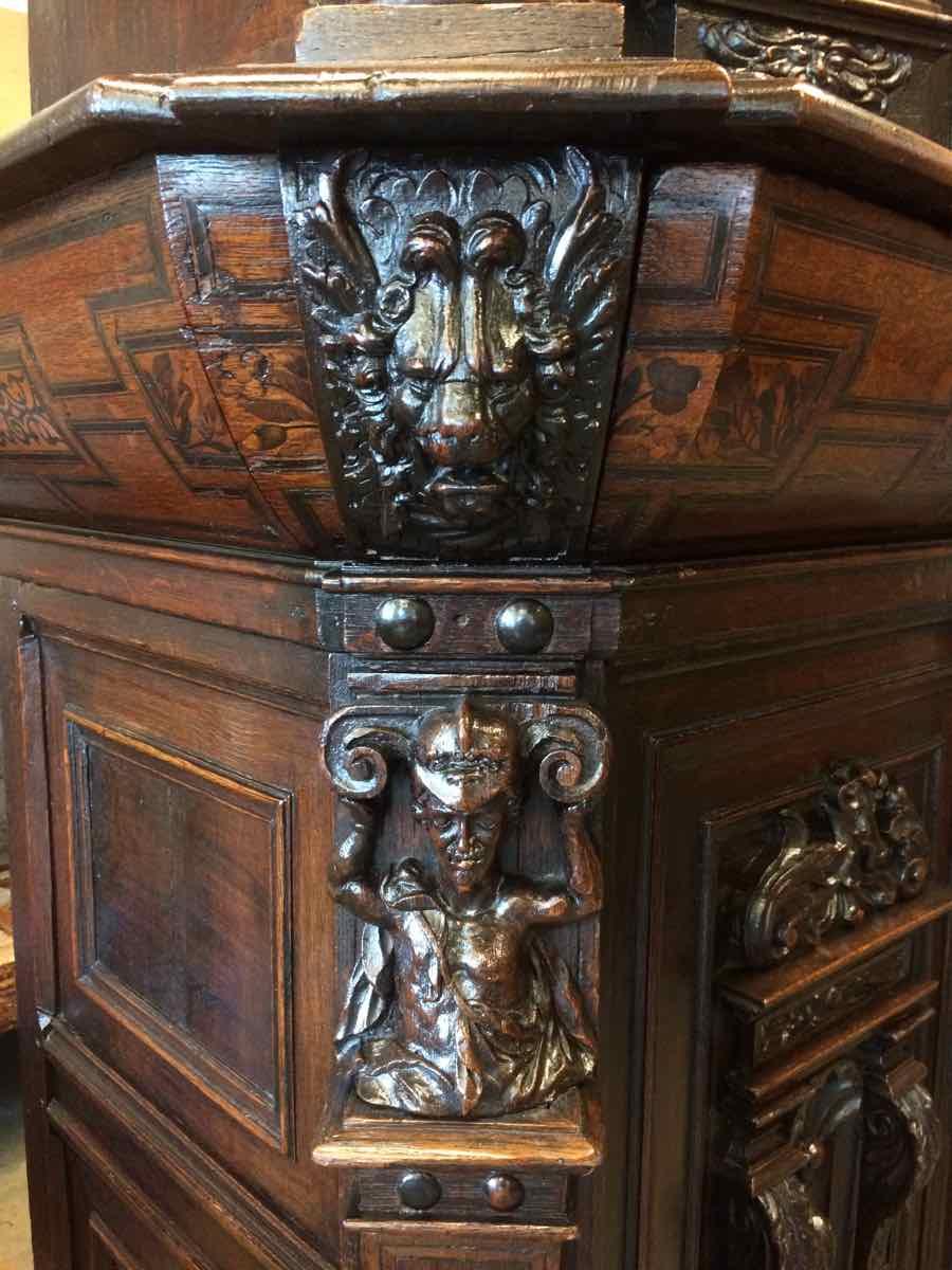 buffet-Renaissance-8 Buffet Renaissance début XVIIe en chêne