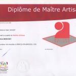 Diplôme Maître Artisan002 | Atelier Patrice Bricout