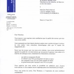 attestation Mobilier National des manufactures des Gobelins Beauvais et de la Savonnerie | Atelier Patrice Bricout