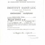 diplôme St Luc attestation etude | Atelier Patrice Bricout