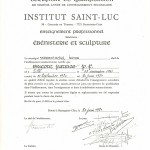 diplôme St Luc certif | Atelier Patrice Bricout