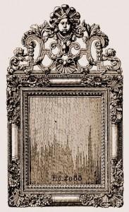 Cadre en glace Louis XIV | Atelier Patrice Bricout