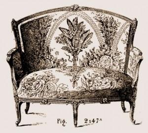 Causeuse Transition Louis XV Louis XVI | Atelier Patrice Bricout