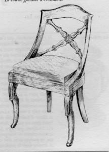 Chaise gondole Louis Philippe | Atelier Patrice Bricout