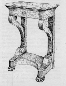 Console Louis Philippe | Atelier Patrice Bricout