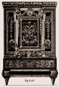 Console crédence Boulle Louis XIV | Atelier Patrice Bricout