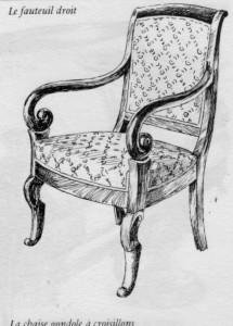 Fauteuil Droit Louis Philippe | Atelier Patrice Bricout