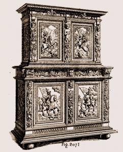 Meuble deux corps Louis XIII | Atelier Patrice Bricout