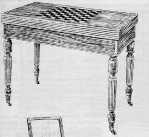 Table à jeux Louis Philippe | Atelier Patrice Bricout