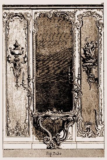 Trumeau de glace Louis XV | Atelier Patrice Bricout