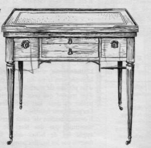 bureau plat de dame Louis XVI | Atelier Patrice Bricout