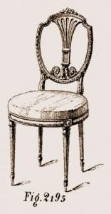 chaise à Lyre Louis XVI | Atelier Patrice Bricout