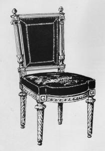 chaise à colonnes détachées Louis XVI | Atelier Patrice Bricout