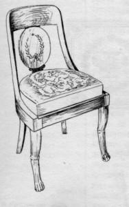 chaise droite Directoire | Atelier Patrice Bricout