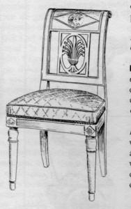 chaise gondole Directoire | Atelier Patrice Bricout