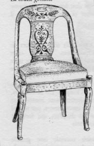 chaise gondole Restauration | Atelier Patrice Bricout