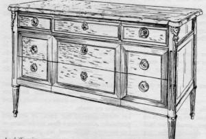 commode Louis XVI | Atelier Patrice Bricout