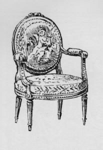 fauteuil à médaillon Louis XVI | Atelier Patrice Bricout