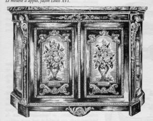 meuble d'appui Napoléon III | Atelier Patrice Bricout