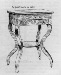 table de salon Louis Philippe | Atelier Patrice Bricout
