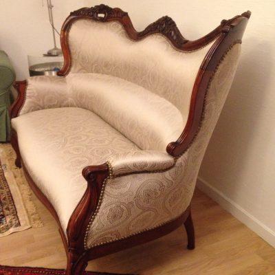 Canapé à oreillettes Napoléon III