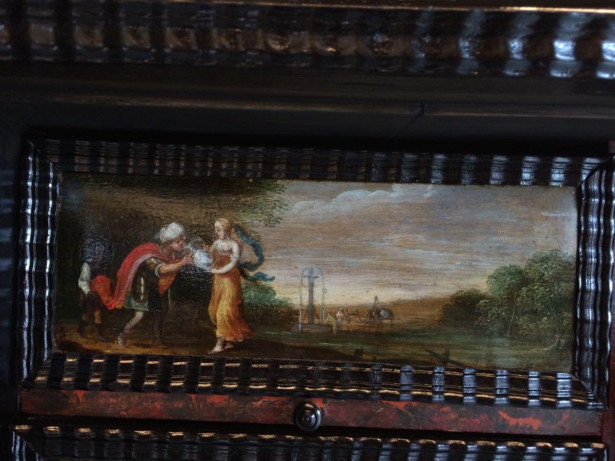 cabinet-17ème-en-placage-débène-Mariage-dIsaac-et-Rébécca-Génèse-24 cabinet XVIIe en ébène