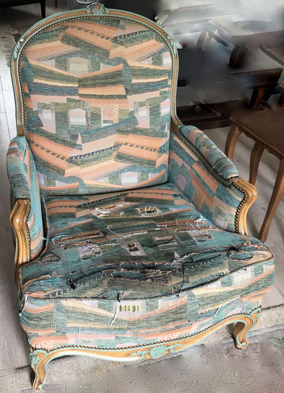 Paire de bergères de style Louis XV en hêtre dite confortable avec coussin 2Atelier Patrice Bricout EPV Marcq en Baroeul | Atelier Patrice Bricout