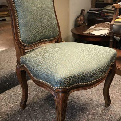 chaise Louis XV en noyer