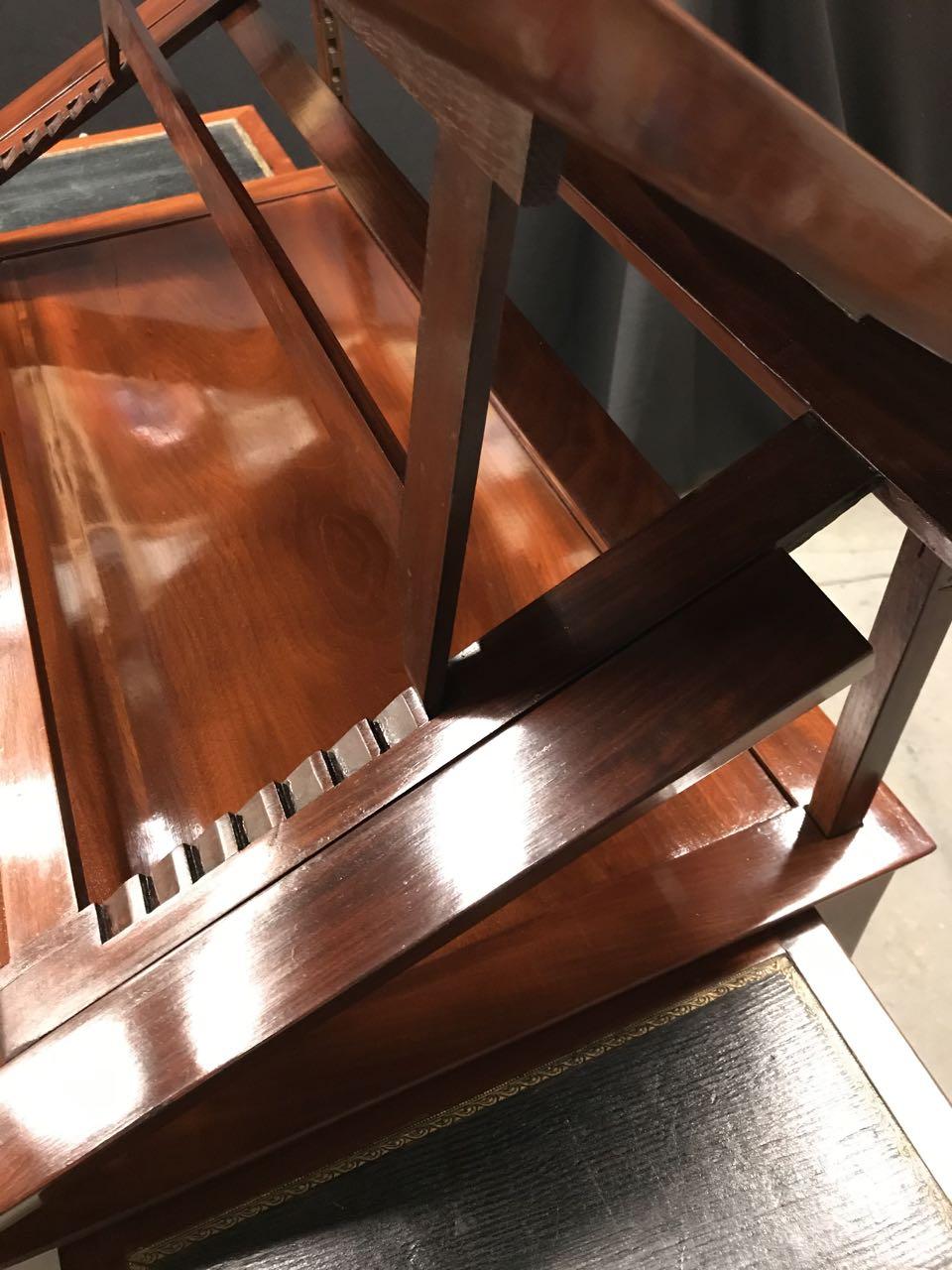 table dArchitecte dite à la Tronchin Epoque Louis XVI de forme rectangulaire en acajou et placage dacajou 22Atelier Patrice Bricout Marcq en Baroeul | Atelier Patrice Bricout