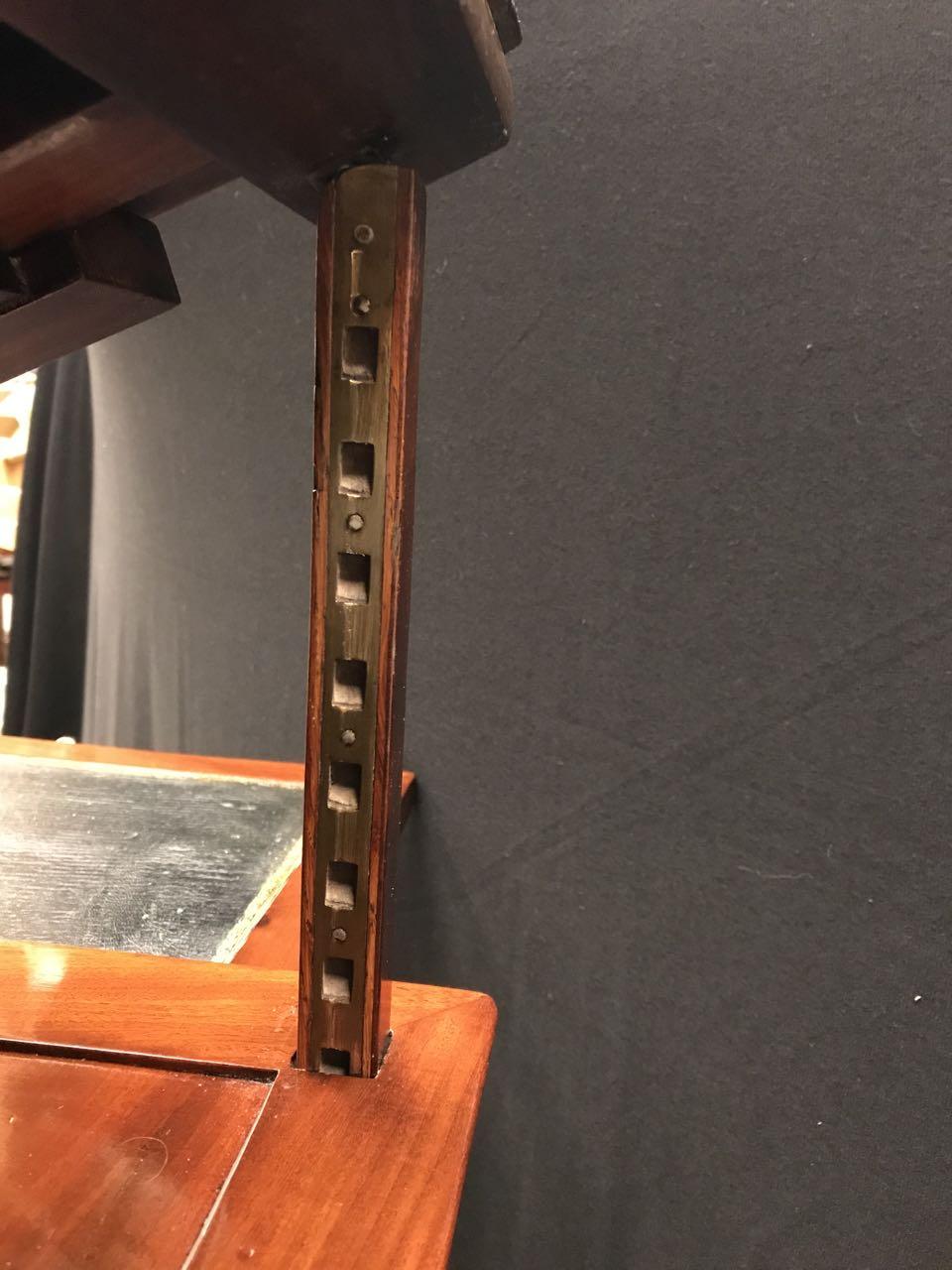 table dArchitecte dite à la Tronchin Epoque Louis XVI de forme rectangulaire en acajou et placage dacajou 36Atelier Patrice Bricout Marcq en Baroeul | Atelier Patrice Bricout