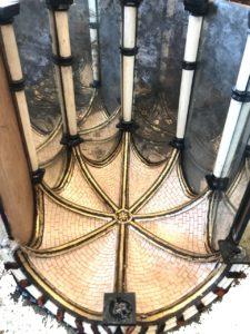 cabinet 17e ébène, ivoire et écaille de tortue en cours de restauration par l'atelier Patrice Bricout EPV Marcq en Baroeul