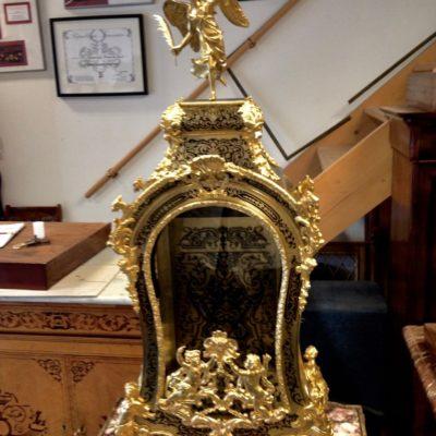 Cartel Louis XV en marqueterie Boulle