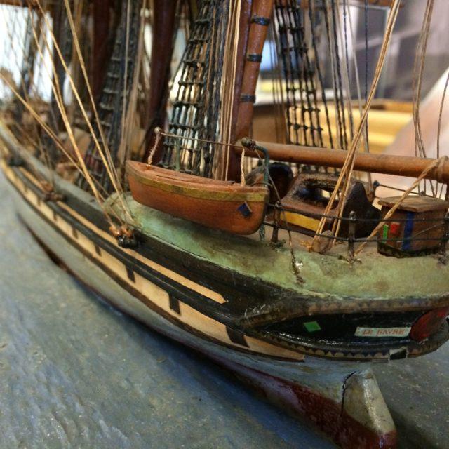 Maquette 4 mâts barque – 19ème – le Havre Bordeaux