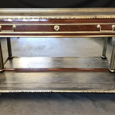 Console desserte Louis XVI en acajou et placage d'acajou estampillée Charles-Erdmann RICHTER