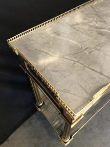 Console desserte Louis XVI en acajou et placage d'acajou estampillée RICHTER Charles Erdmann | Atelier Patrice Bricout