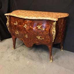 Commode Sauteuse Louis XV atelier Patrice Bricout