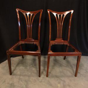 Chaises en acajou mobilier Chateau d'Hardelot prêt par le Mobilier National atelier Patrice Bricout