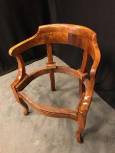 fauteuil de bureau Napoléon III restauration atelier Patrice Bricout