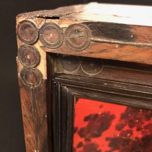 Cabinet de voyage XVIIe - Travail espagnol - restauration atelier Patrice Bricout